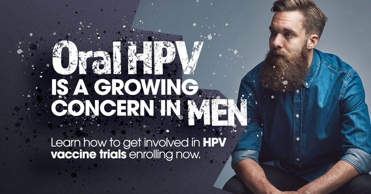HPV: A Growing Concern For Men - Vaccine Trials Enrolling Now