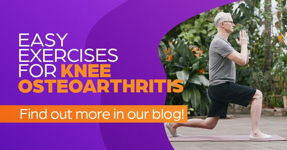 Easy exercises for knee osteoarthritis, find out more in our blog, OA research